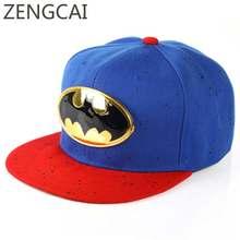 Niños gorra de béisbol de dibujos animados Batman Superman Snapback Hat  niños gorras de béisbol para los niños ajustable Hip Hop. 1785cc1ace0