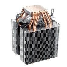 6 труб компьютер Cpu кулер вентилятор радиатора для Lag1156/1155/1150/775 Intel Amd