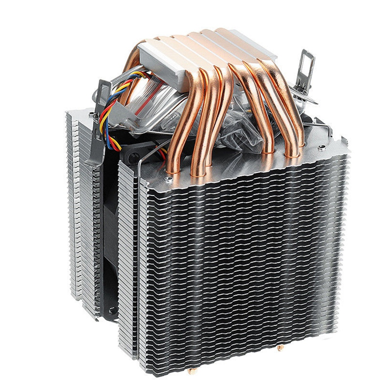 6 Pipes Computer Cpu Cooler Fan Heatsink For Lag1156/1155/1150/775 Intel Amd