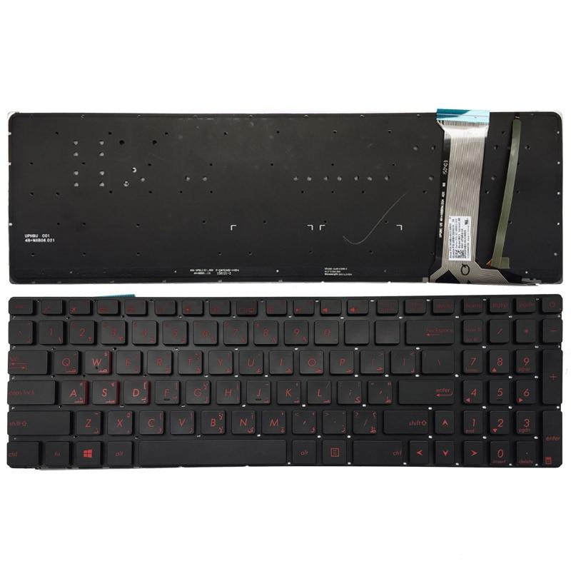 Arabic Arabic French backlit laptop keyboard for ASUS GL551 GL551J GL551JK GL551JM GL551JW GL551JX