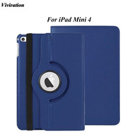 7.9 Inch PU Leather Tablet PC Cover Case For iPad mini 4 Flip 360 Degree Rotating Case Cover Fashionable And Simple Design Style