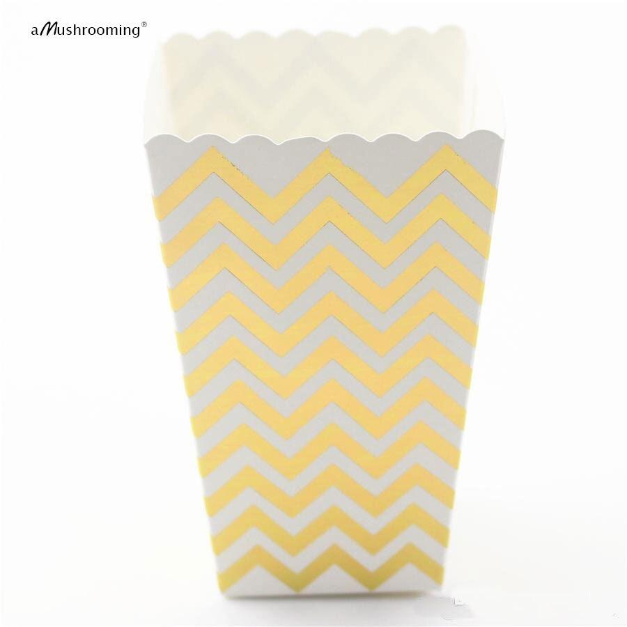 Popcorn Box Pop Corn Scoop Gold Chevron Popcorn Box Scoop Bar ...