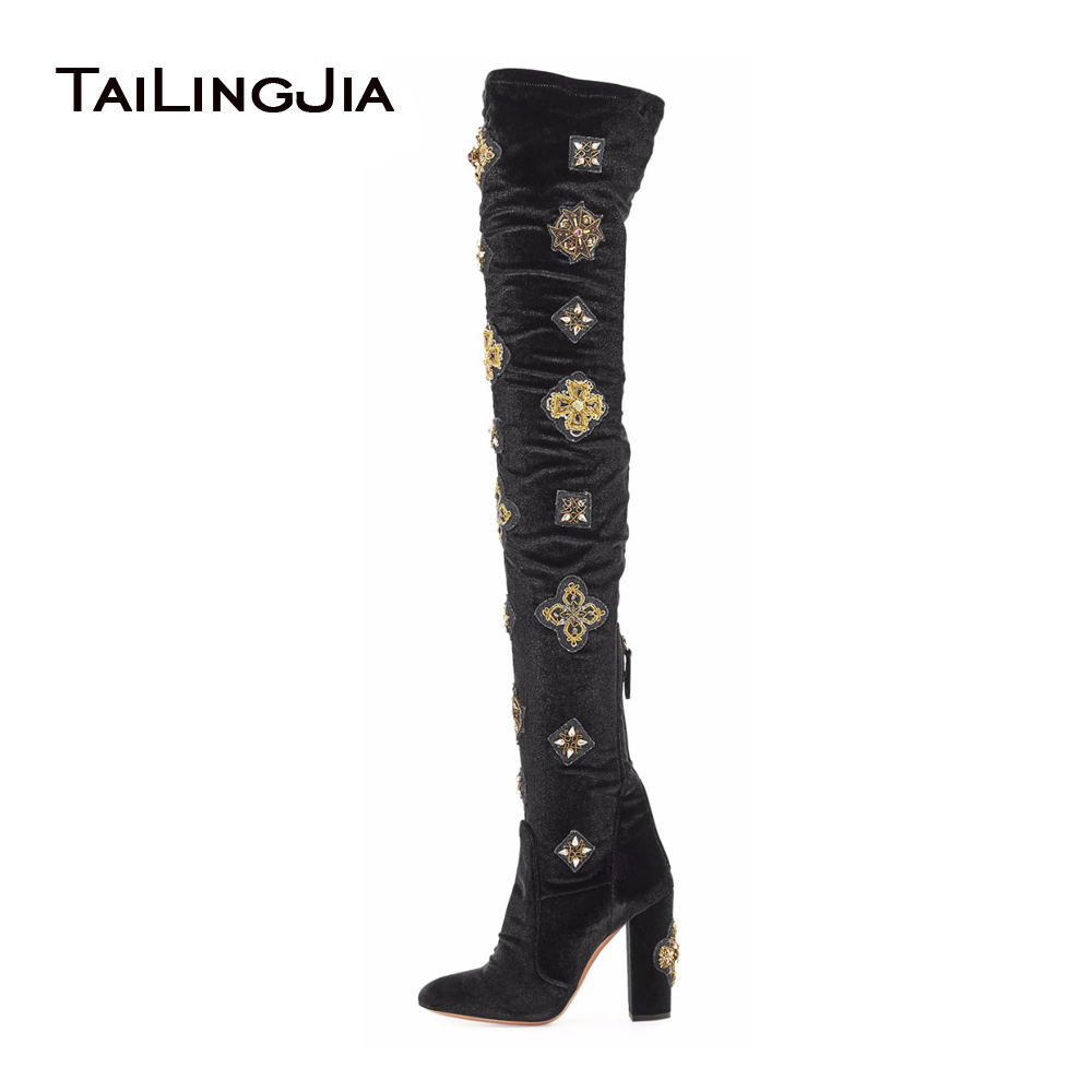 aliexpress buy the knee boots black