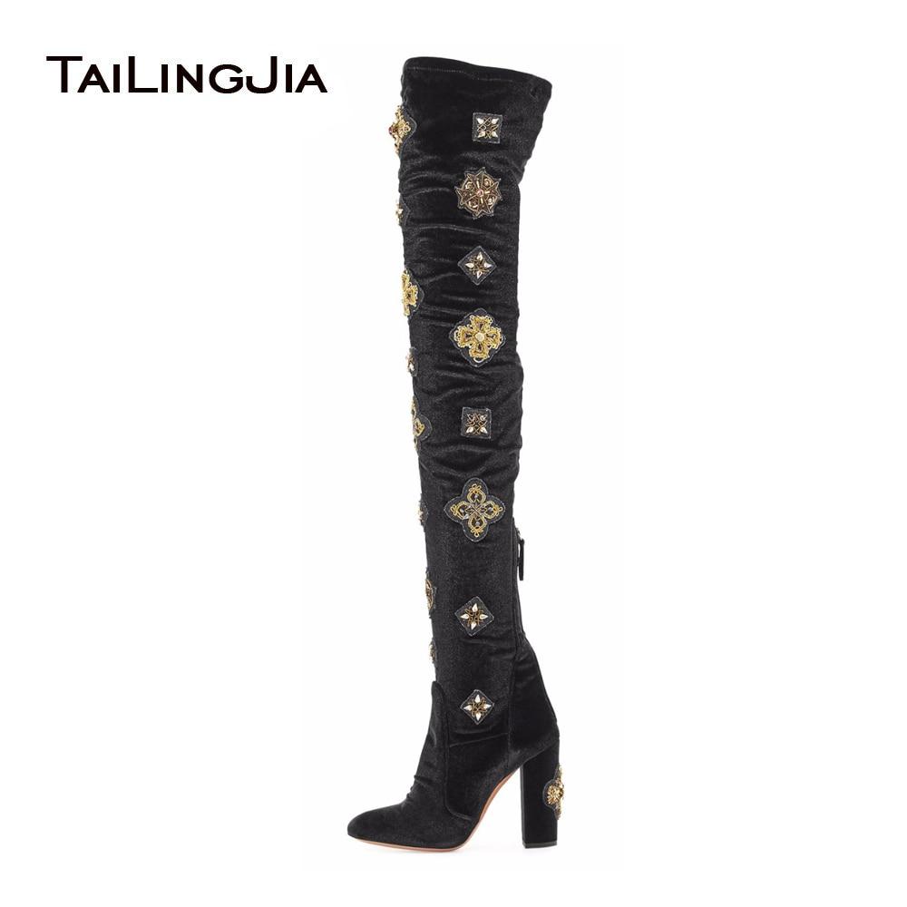 Aliexpress Com Buy Women Over The Knee Boots Black