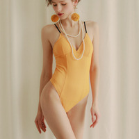 SEXYELF Erotic Apparel Teddies & Bodysuits Yellow Jumpsuit D 020 Sexy Lace Beauty Back Clothes Sexy Lingerie for Women Adu'l't