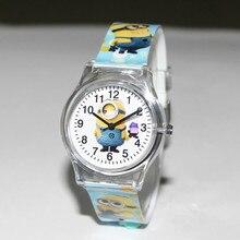 Eye Despicable Me Minions Cartoon Design 10M waterproof watch / Precious Milk Dad Cute Children clock / kid Quartz Wrist Watches