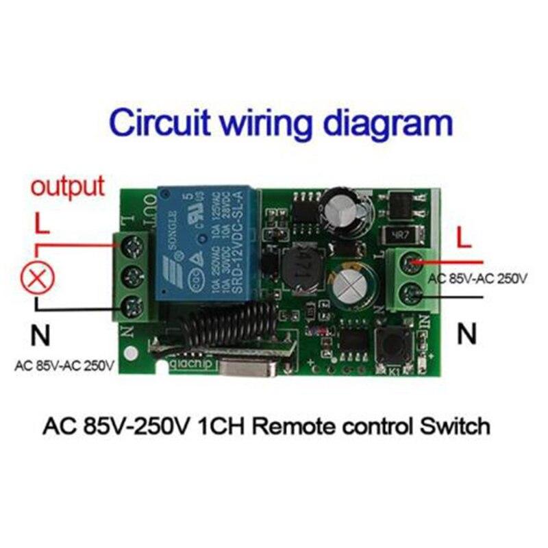 QIACHIP Remote Control Switch AC 220V 110V 120V 240V Wireless Lights