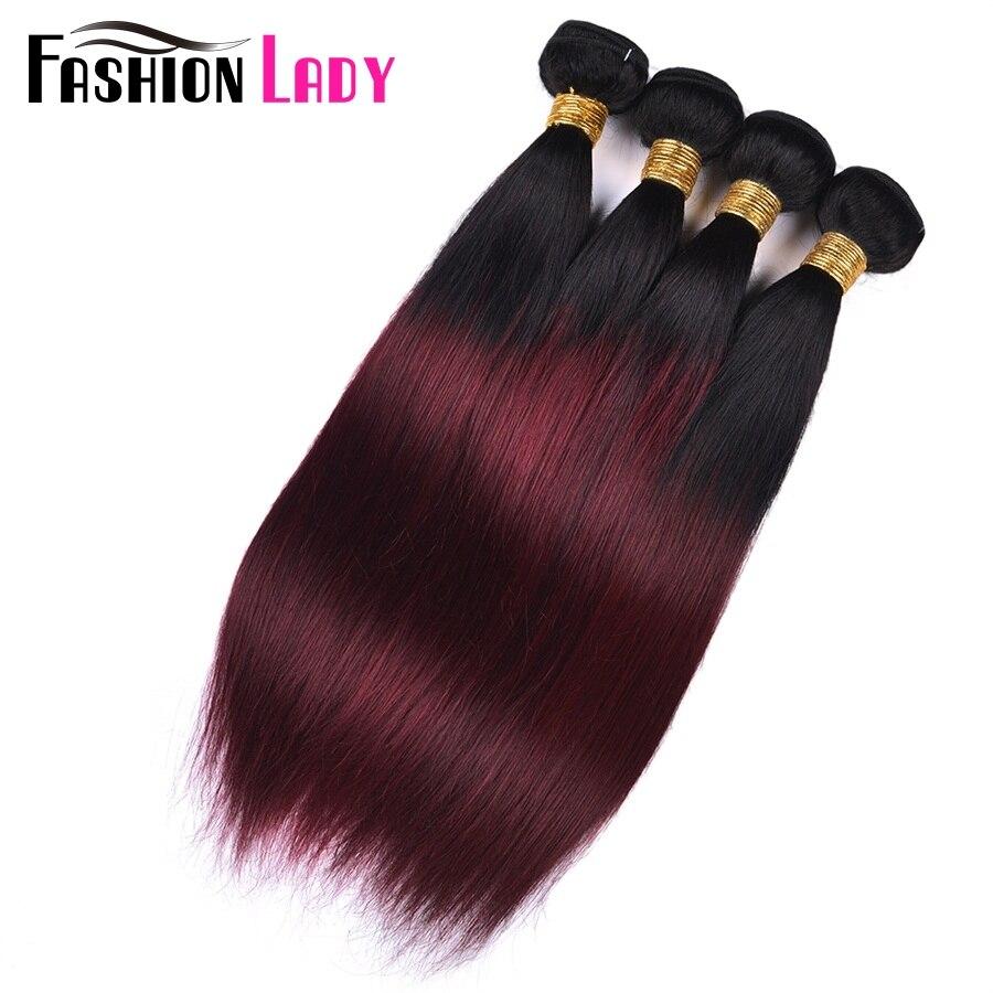 HTB1dPWvfsbI8KJjy1zdq6ze1VXaz Fashion Lady Pre-Colored Ombre Brazilian Hair 3 Bundles With Lace Closure 1B/ 99J Straight Weave Human Hair Bundle Pack Non-Remy