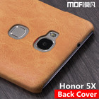 Honor 5x case original Huawei Honor 5x hard case back cover MOFi Hauwei gr5 case leather fundas honor5x case 5.5 protect silicon