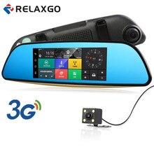 Relaxgo 3G 7″ Android Car DVR Rearview Mirror GPS Navigation Bluetooth Car Camera Parking Dual Lens FHD 1080P Auto Registrator