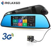 2017 3G 7 Android Car DVR Rearview Mirror GPS Navigation Bluetooth Car Camera Parking Dual Lens
