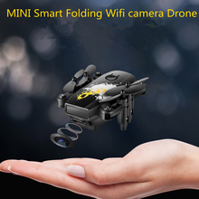 NEW app control Mini Wifi camera smart drone foldable pocket drone HD altitude hold RC Helicopter toy