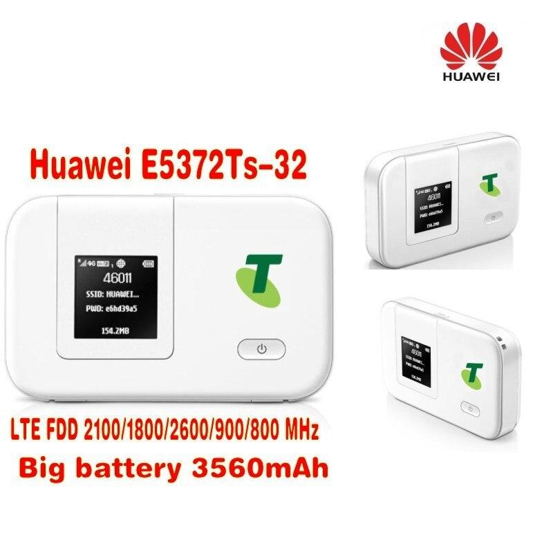 Lot of 10pcs unlocked HUAWEI E5372TS-32 LTE 4G Wireless Router 150M 3560mAH battery 10pcs lot strw6735 str w6735 w6735 100