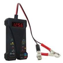 Motopower negro 12 V inteligente Digital probador de la batería voltímetro alternador analizador con LCD y pantalla LED para autos motos barco