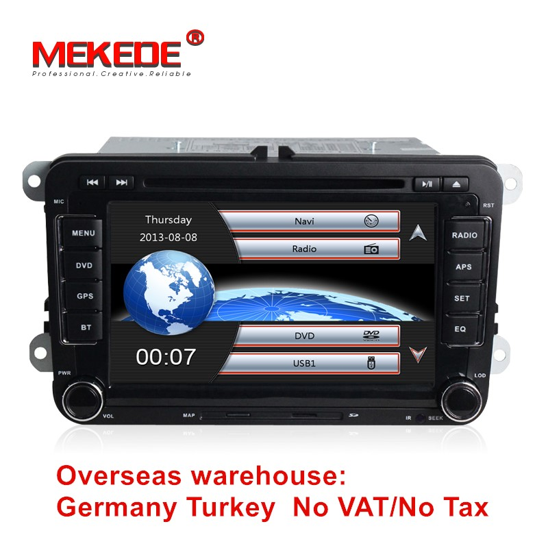 Voiture GPS navigation radio stéréo pour vw Cupra 2006-2011 Leon 2005-2010 PoLo 2010-2012 tiguan jetta avec BT DVD livraison gratuite