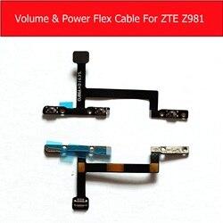 Power & volume cabo flexível para zte zmax pro z981 controle de volume lado keypads & power sleep button flex fita peças reposição reparo