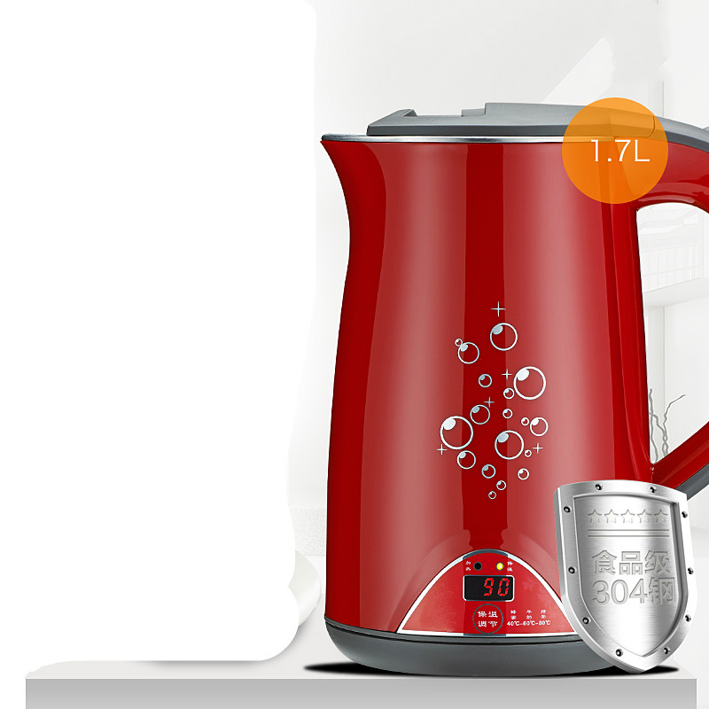 Stainless steel electric kettle double insulation automatic power off free shipping automatic power off of stainless steel electric kettle