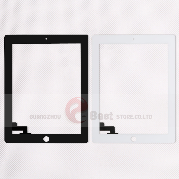 10pcs lot Touch Screen Glass Replacement Digitizer for iPad 2 Digitizer Touch Screen with adhesive A1395