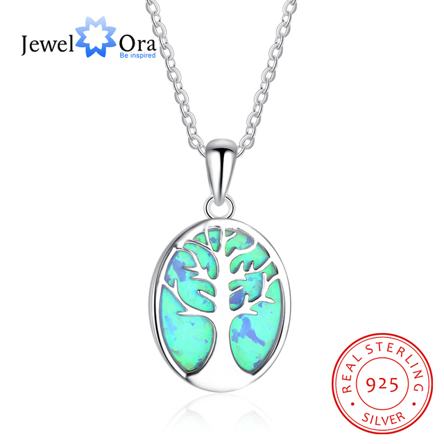 Tree of life blue opal pendant necklace gift for mom party jewelry tree of life blue opal pendant necklace gift for mom party jewelry 925 sterling silver necklace aloadofball Image collections