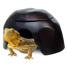 Tortoise Humidifying Hiding Nest Cave Landscaping Reptile House Turtle Drying Platform Pet Shelter Humpback Prevention