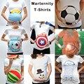 Parte Superior Do Tanque de Maternidade Camisa Copa Do Mundo de futebol Anúncio da Gravidez roupas de Verão Para As Mulheres Grávidas Algodão Marternity Desgaste Presente