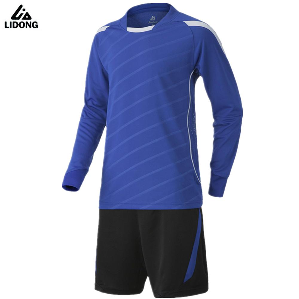 new men 39 s long sleeve jersey set 2017 survetement football training suit maillot de foot blank. Black Bedroom Furniture Sets. Home Design Ideas