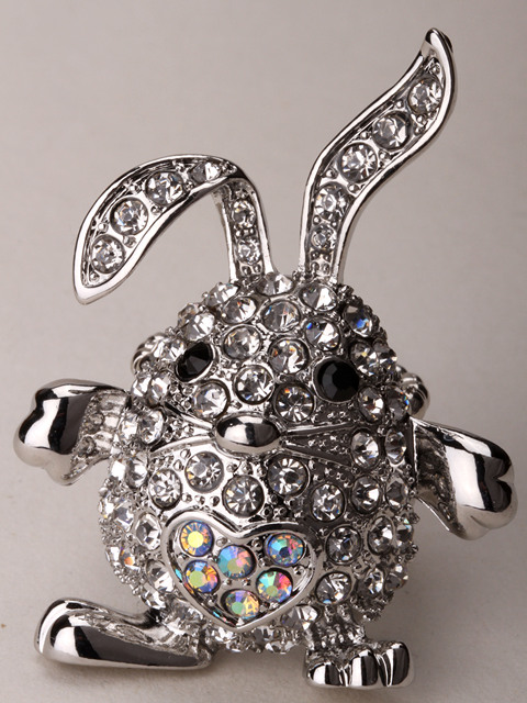 Bunny rabbit stretch ring easter jewelry gifts decoration charm bunny rabbit stretch ring easter jewelry gifts decoration charm for women girls antique silver color wholesale negle Image collections