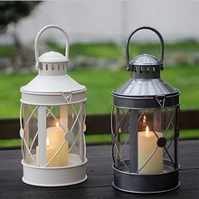 Candlestick Decoration European Wrought Iron Wind Lamp Wedding Romantic Simple Decorative Two-color Modeling