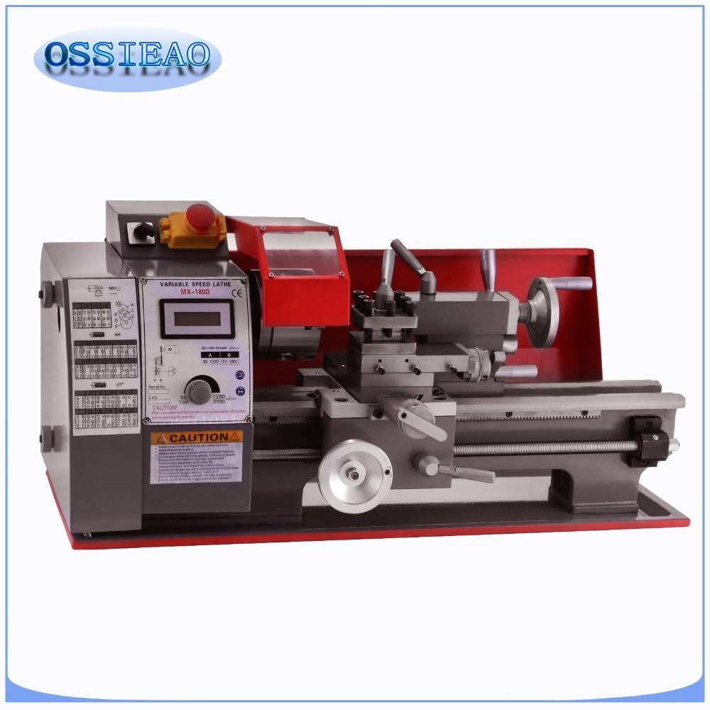 600W Metal Mini Lathe Metalworking Woodworking Power Tool Turning Machine
