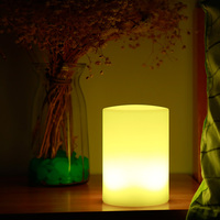 Cute Colorful Night Light Lamp Rechargeable LED Cylindrical Bedside Lamp With Remote Control Bedroom Study Living Room Light Z30