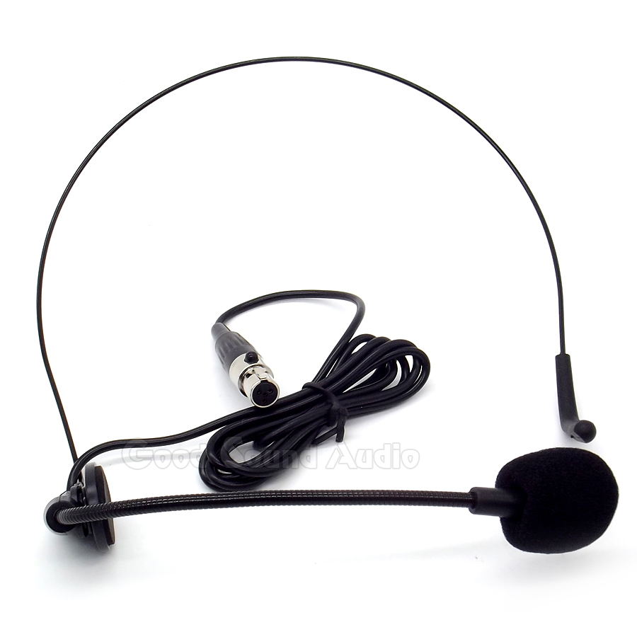 Wired Headset Microphone Xlr Connected Shure 4 Pin Wiring Diagram Mini Plug Headworn Condenser Mic Radio