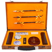 the Four Treasures of Study Chinese Calligraphy brushes Ink stick stationary Painting Supply Art Set gift Box for Artist