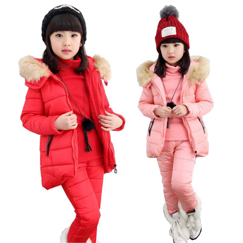 Girls Clothing Sets Winter Girls Sport Suit Girls Clothes School Children Clothing Kids Clothes Tracksuit for girls 4-12 Years yodina gold velvet boys clothing set autumn winter children thicken sport suit boys clothes sets school kids fashion tracksuit