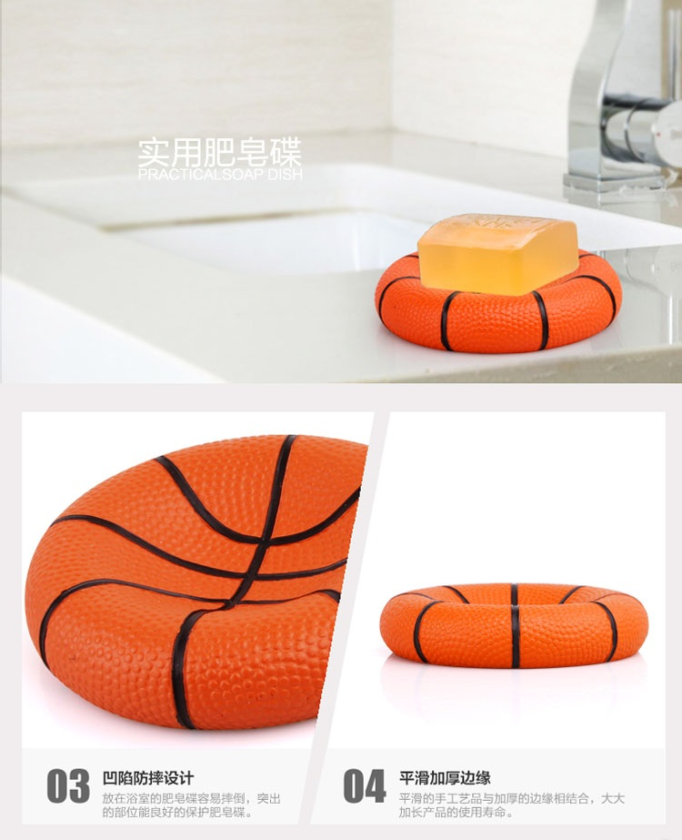 Genial Cute Basketball Resin Bathroom Accessories 5 Pieces Conjunto Para Banheiro  Wedding Gift Bathroom Set Resin Bathroom Accessories In Bathroom Accessories  Sets ...