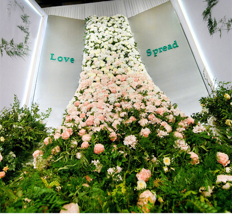 JAROWN Wedding Props Flower Row Trailing Floral Set Flower Wall Welcome Area Stage Layout Decor Home Party Decoration (14)