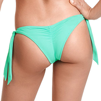 Women Sexy Secret Thong  Female Perspective Green Low Waist  Nightwear Clothes Bikini bottom Swimsuit  Women