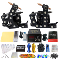 Solong Tattoo Kit de Tatuaje Pro 2 Rorary Tattoo Machine Gun Power Supply 1 Piel de La Práctica de Doble cara Re-puede utilizar Un Conjunto TK202-20