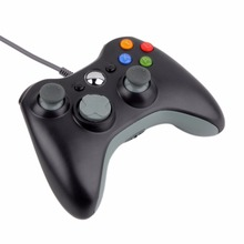 Проводная microsoft xbox джойстик геймпад игровой контроллер slim пк usb шт.