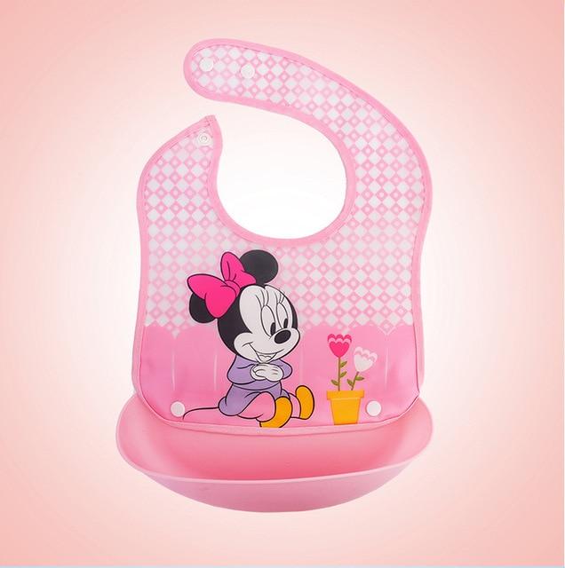 Dibujos animados de Disney ajustable Baberos de bebé Toalla de Saliva impermeable chico bebé adorable Baberos toalla niño almuerzo Baberos paño de eructo