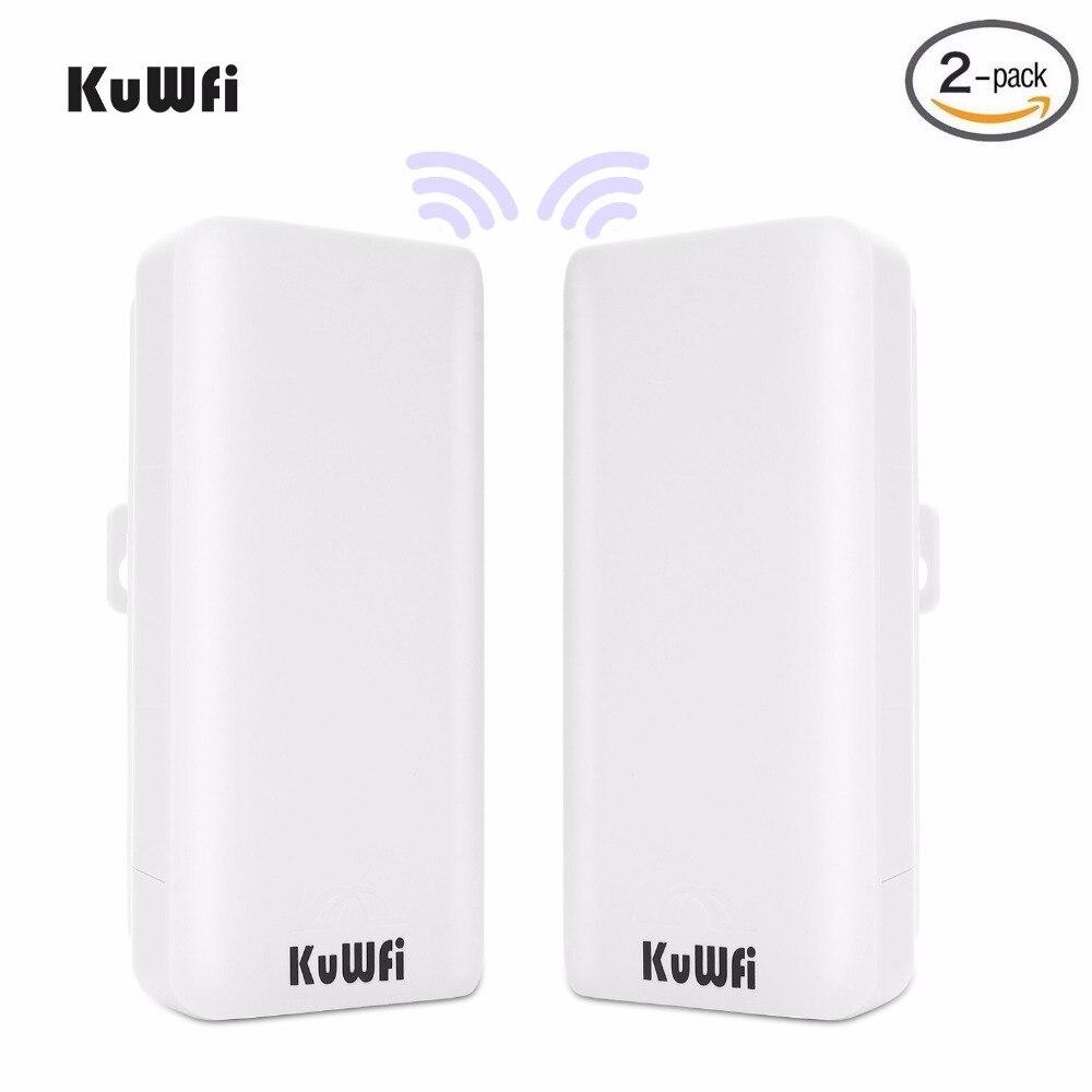 KuWFi 2 pz 300 Mbps Wireless Bridge CPE Router Ad Alta Potenza 2.4 ghz Wireless Outdoor Point-to-Point ponte/CPE Pre-programma WDS modalità