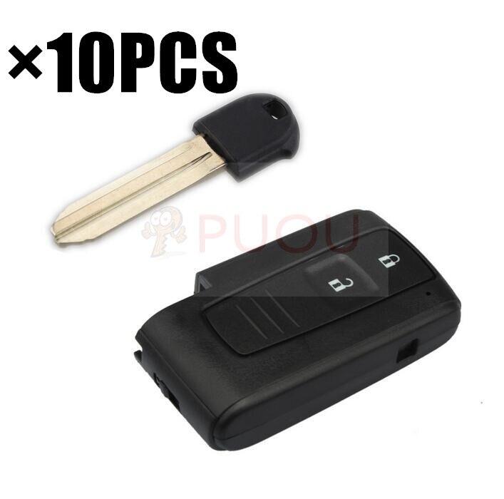 10pcs LOT For TOYOTA PRIUS 2004 2009 SMART KEY REMOTE FOB Car Case key shell 2