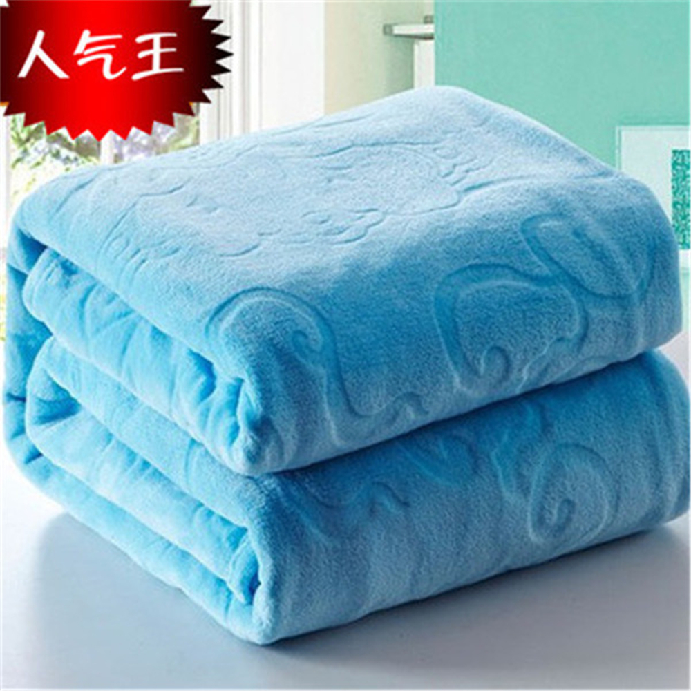 Image 3 - Blanket On The Bed Faux Fur Coral Fleece Mink Throw Solid Color  Embossed Korean Style Sofa Cover Plaid Couch Chair Blanketthe  blanketsmink throwblanket blanket