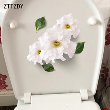 ZTTZDY 22*24CM Beautiful Flowers Modern Art Home Decoration Wall Toilet Sticker Decals T2-0072