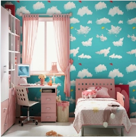 10m*45cm PVC blue sky white clouds self-adhesive waterproof wallpaper bedroom children room sitting room cartoon wall stickers customize leaves blue sky and white clouds 3d ceiling murals wallpaper living room bedroom