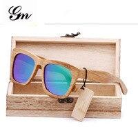Gm 2018 شعار العرف ، الخشب النظارات الخيزران مربع النظارات الرياضية ، الاستقطاب النظارات