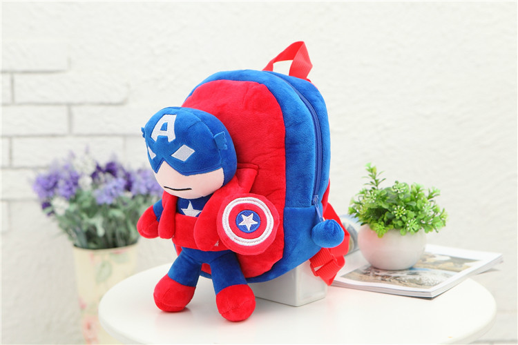 3D-The-Avengers-Plush-Backpacks-Toys-for-kids-2016-New-Ironman-Superman-Spiderman-Batman-doll-plush-schoolbag-mochila-4