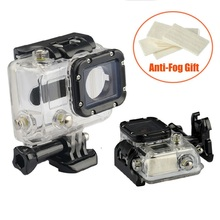 Waterproof Case Anti-Fog 45M Diving Sports Housing Box with Glass Mounting for GoPro Hero 3/3+/4 Camera