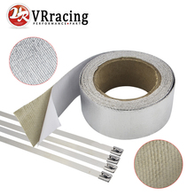 VR RACING – Car Aluminum Reinforced Tape Adhesive Backed Heat Shield Resistant Wrap For Intake pipe WITH 4PCS TIES VR1612