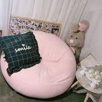 Ленивый диван, татами сеть, красный однотканевый мешок, спальня балкон, двойное милое кресло для отдыха, маленькая домашняя девушка