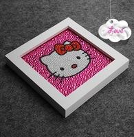 Diy Lovely Kitty Cat 15 15 CM 5D Diamond Painting Full Embroidery Round Diamond Rhinestone For